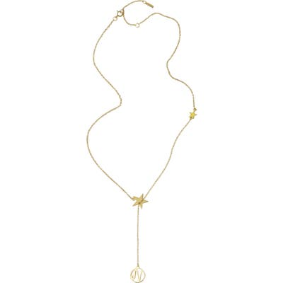 Adornia Capricorn Zodiac Lariat Necklace
