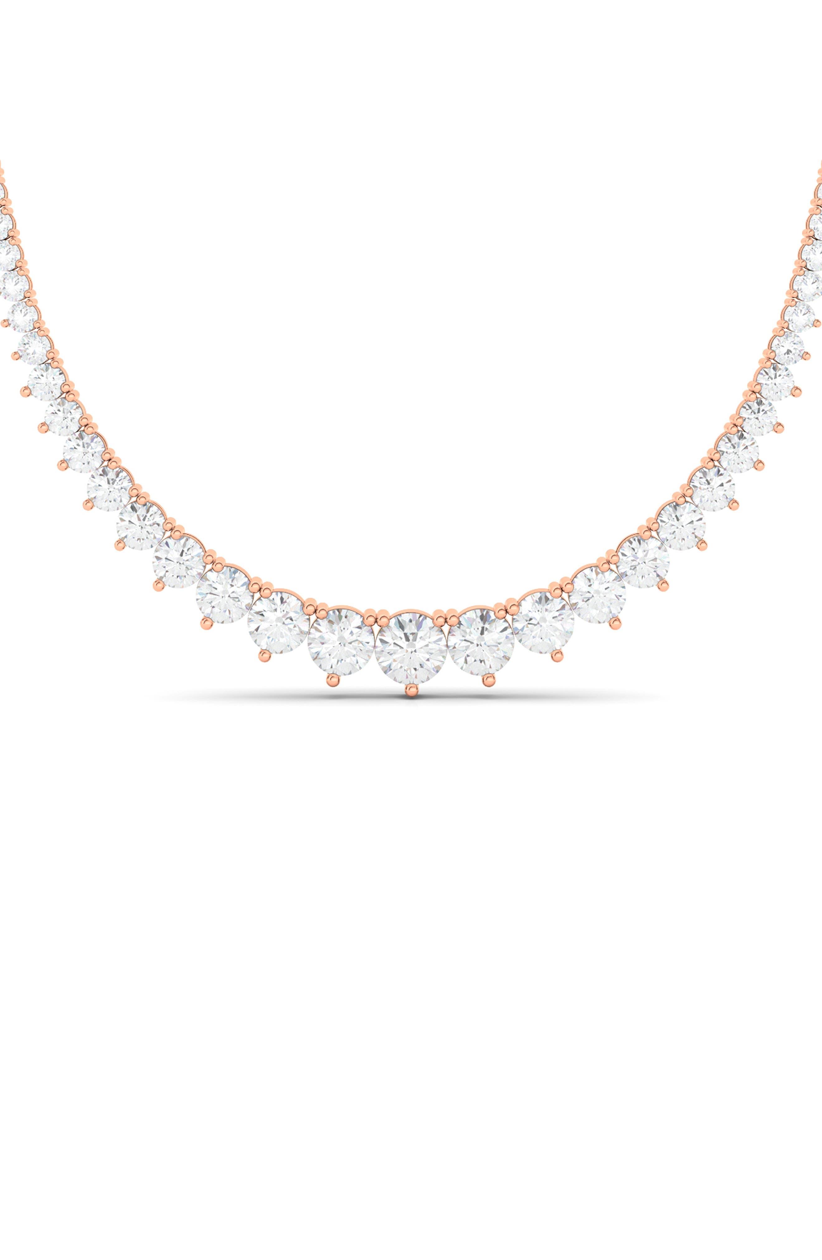 Graduated Lab Created Diamond Necklace