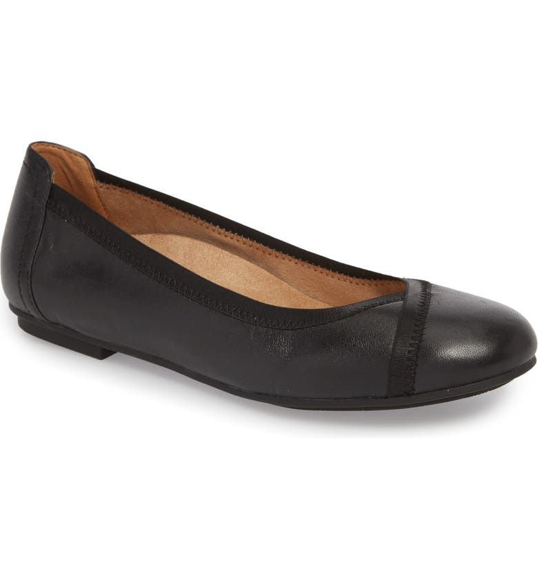 VIONIC Caroll Flat, Main, color, BLACK LEATHER