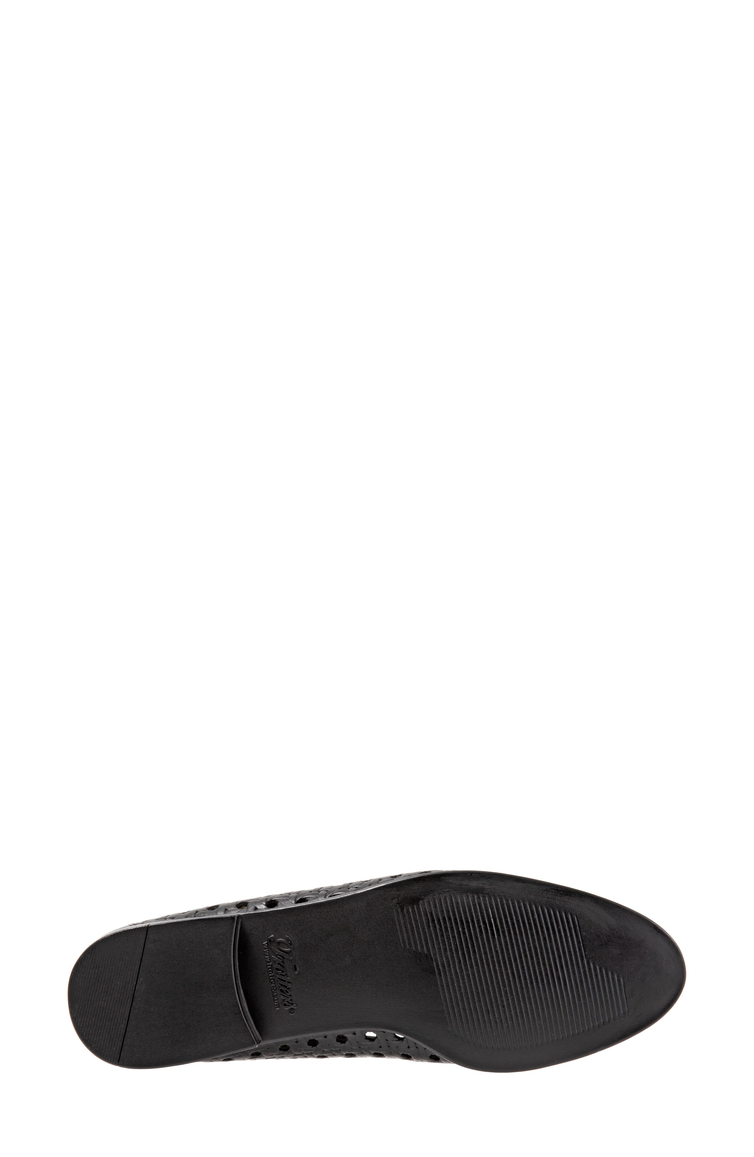 ,                             Liz Woven Loafer Flat,                             Alternate thumbnail 6, color,                             BLACK/ BLACK LEATHER