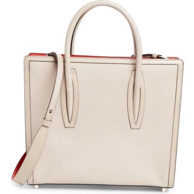 Christian Louboutin Medium Paloma Calfskin Leather Satchel - Grey