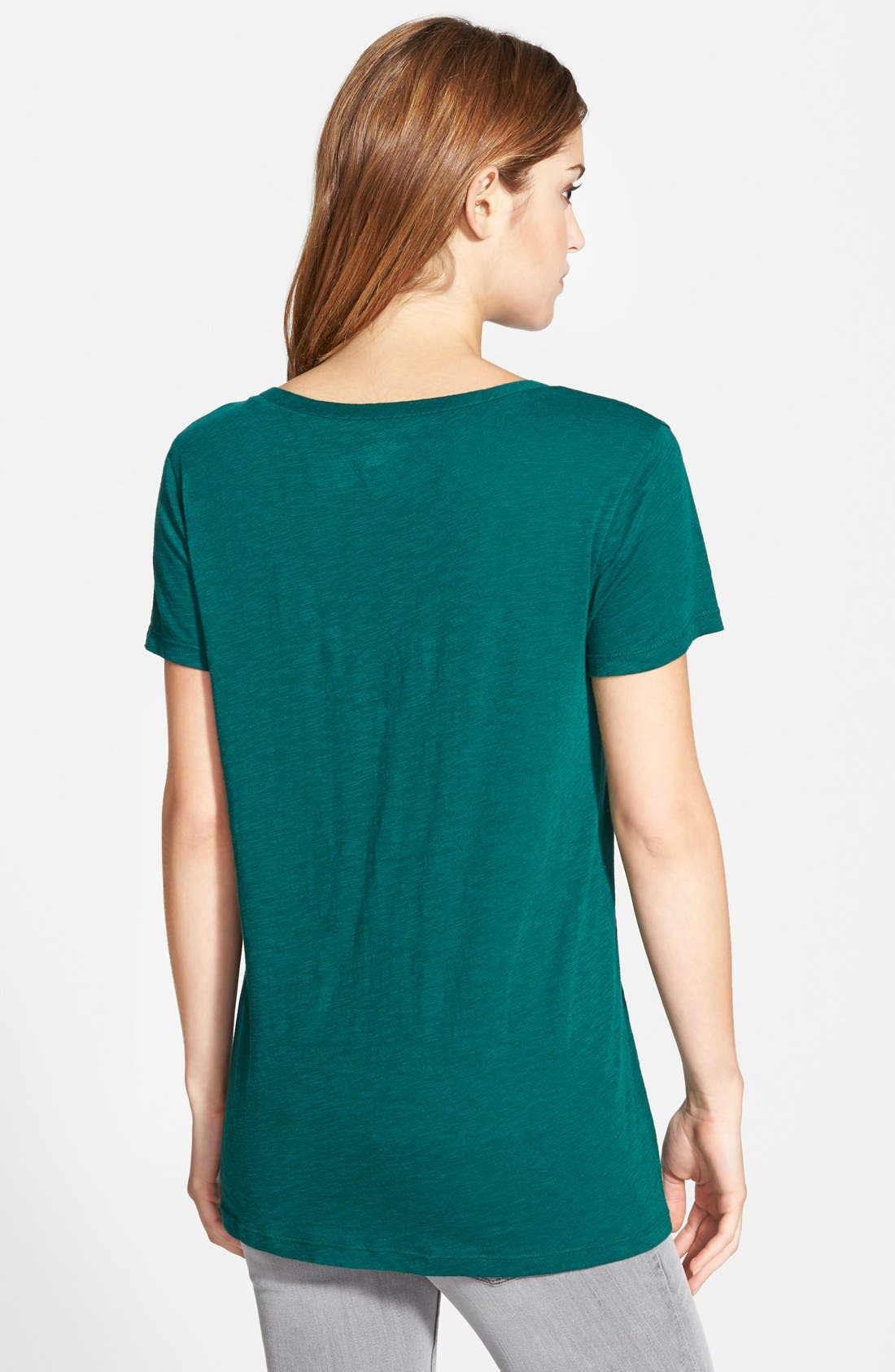 ,                             Relaxed Slub Knit U-Neck Tee,                             Alternate thumbnail 212, color,                             331
