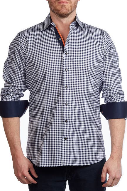 Image of Levinas Gingham Contemporary Fit Shirt