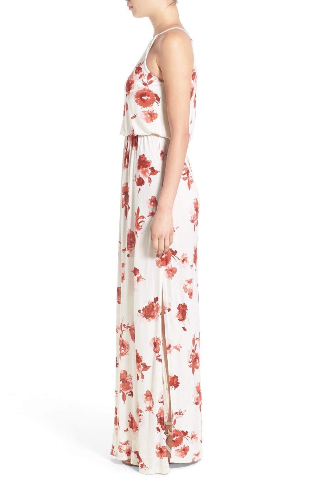 ,                             High Neck Maxi Dress,                             Alternate thumbnail 140, color,                             900