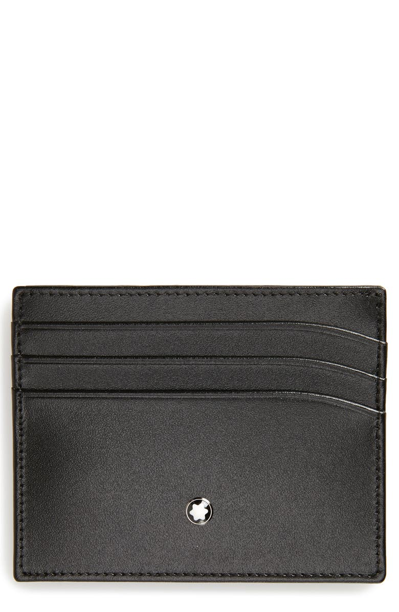 MONTBLANC Meisterstück Leather Card Case, Main, color, 001