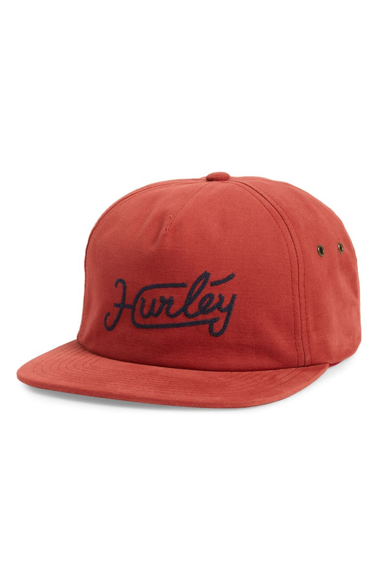 HURLEY East Side Snapback Cap, Main, color, GYM RED