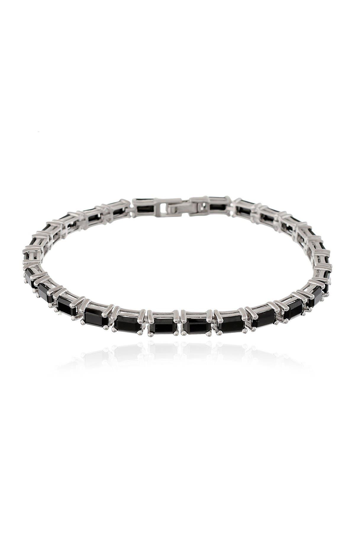 Image of Forever Creations USA Inc. Sterling Silver Black Spinel Bracelet