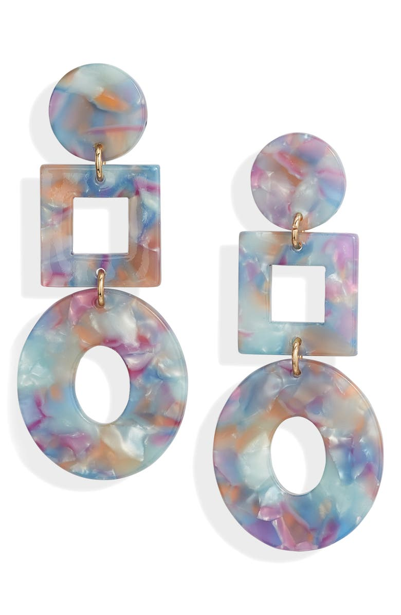 HALOGEN<SUP>®</SUP> Mixed Shapes Drop Earrings, Main, color, BLUE MULTI- GOLD