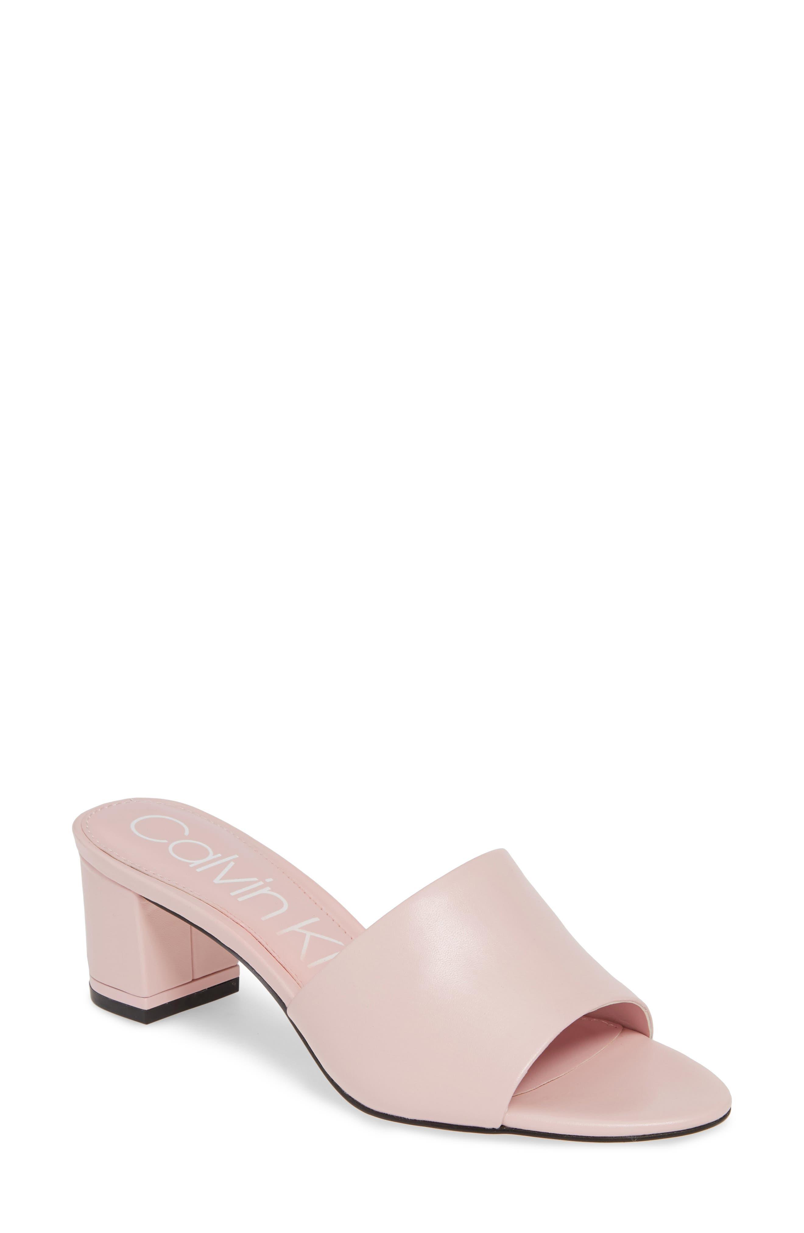 Calvin Klein Noelly Slide Sandal- Pink