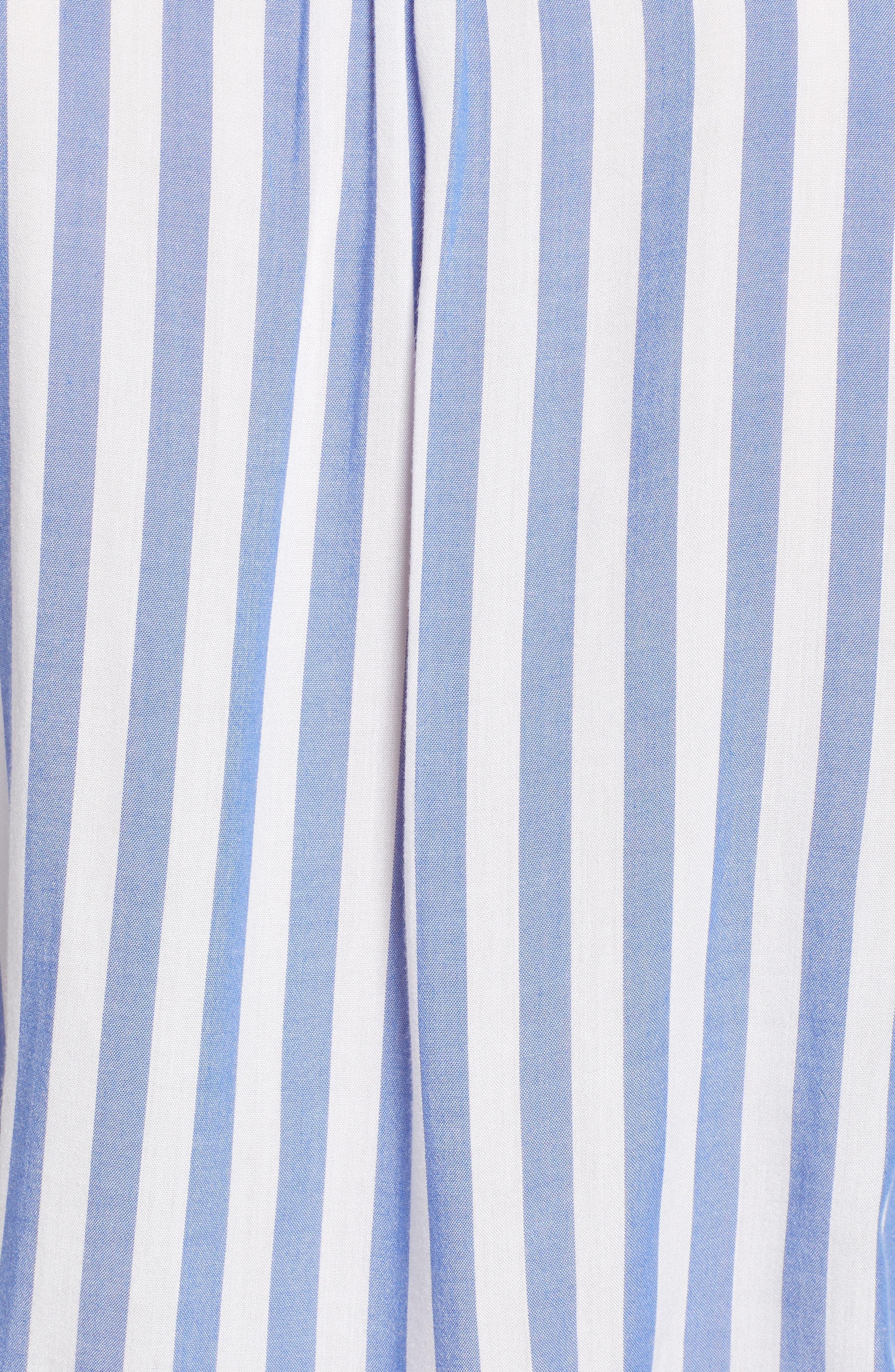 ,                             Ruffle Shirt,                             Alternate thumbnail 5, color,                             MONACO STRIPE