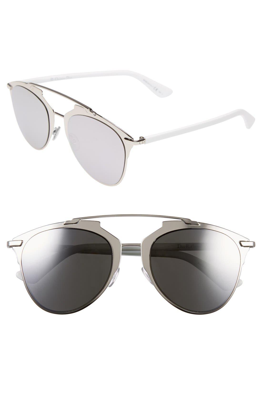 ,                             Reflected 52mm Brow Bar Sunglasses,                             Main thumbnail 7, color,                             040