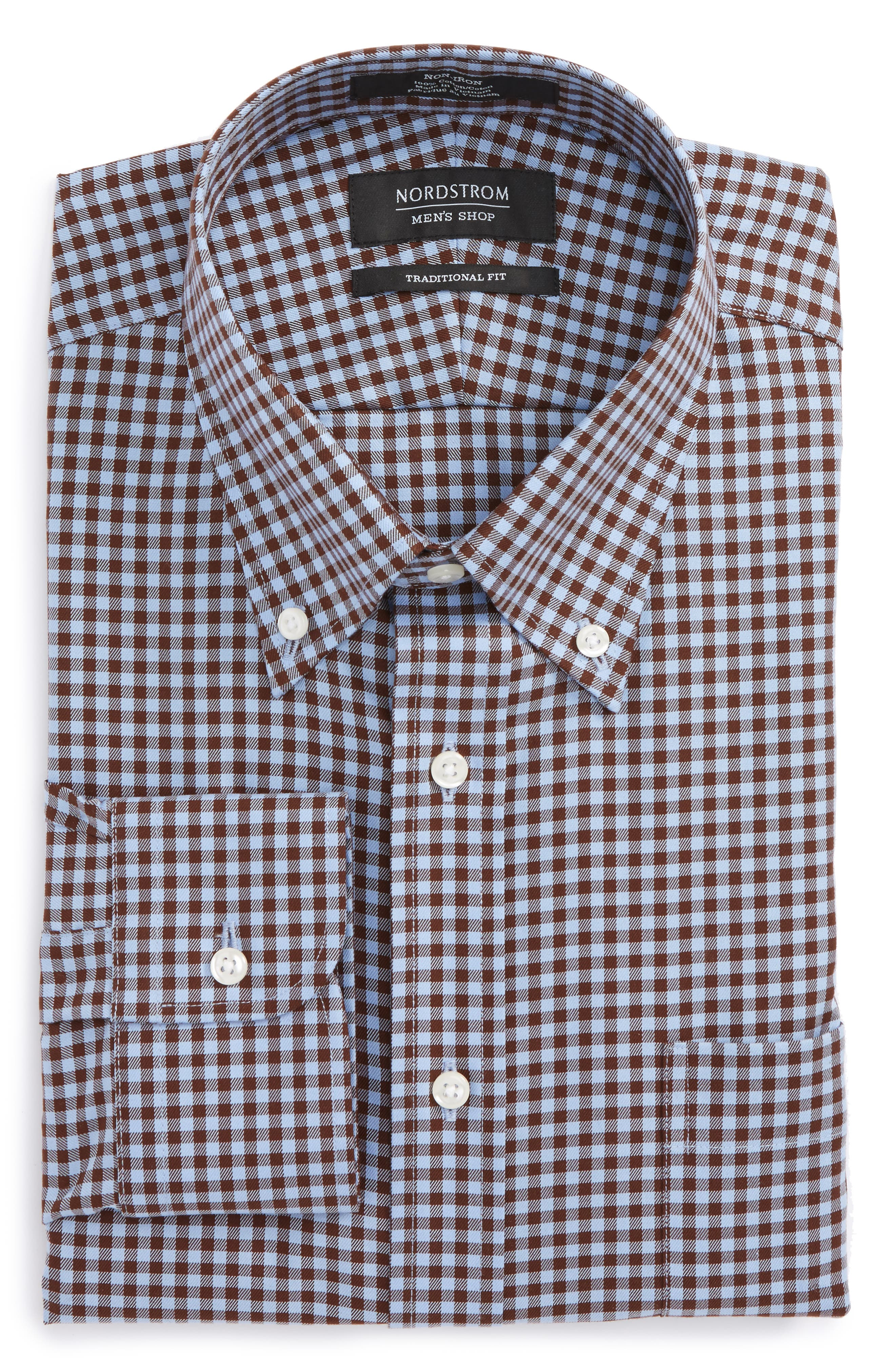 ,                             Traditional Fit Non-Iron Gingham Dress Shirt,                             Alternate thumbnail 45, color,                             211