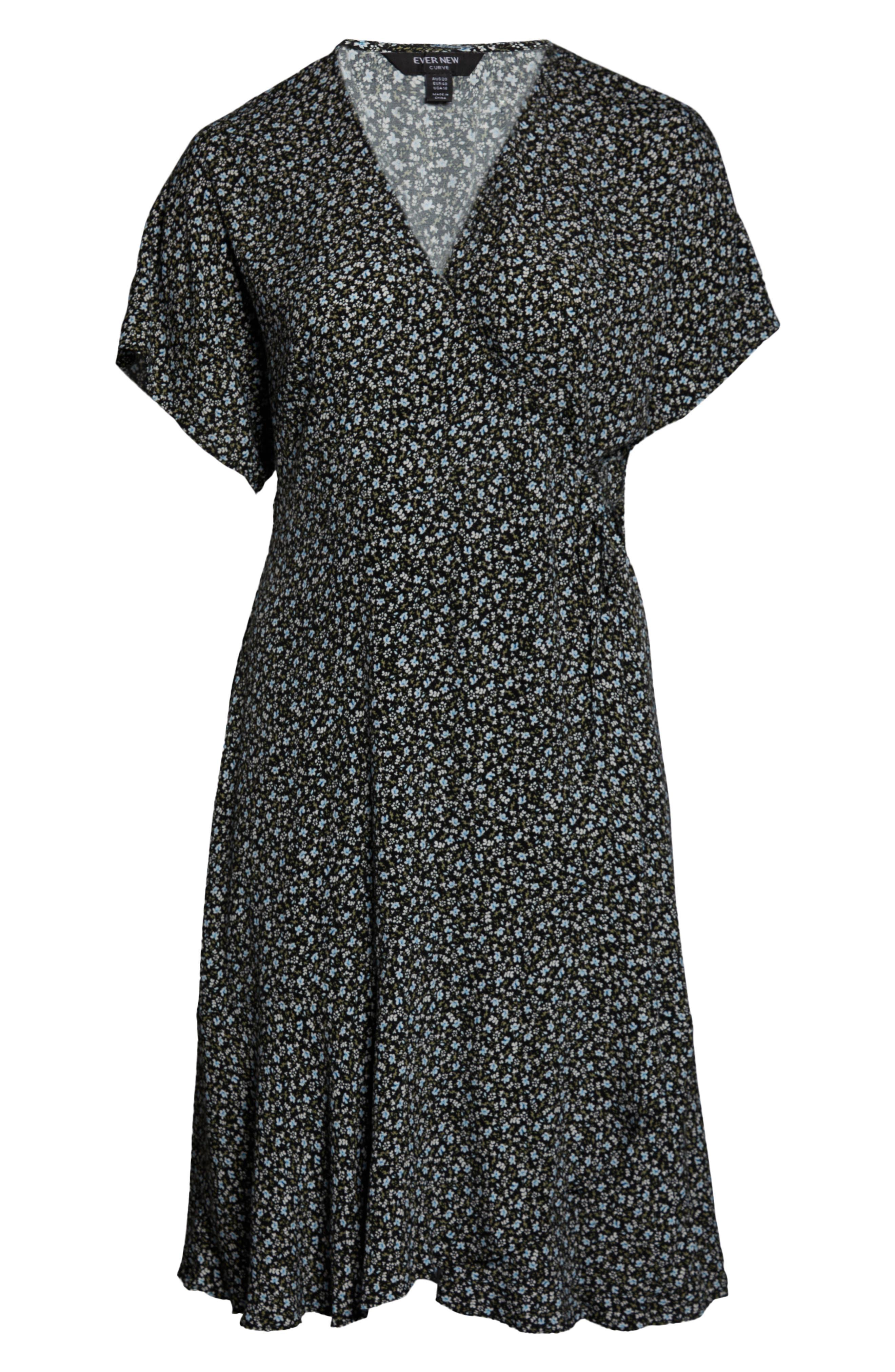 Clementine Dot Print Wrap Dress