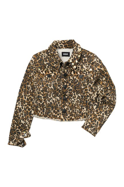 Image of HUDSON Jeans Jungle Animal Print Denim Jacket