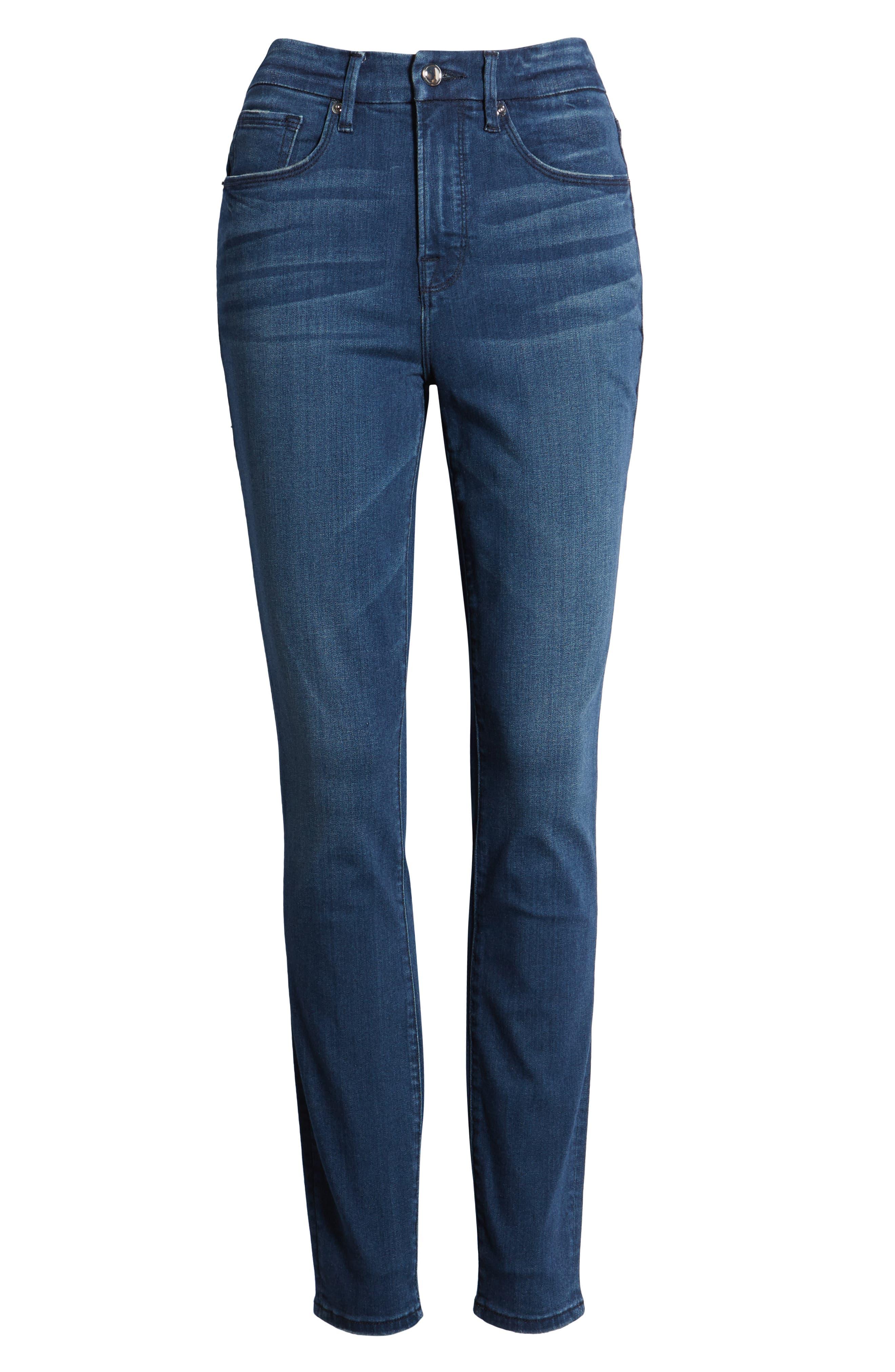 ,                             Good Legs High Waist Skinny Jeans,                             Alternate thumbnail 7, color,                             BLUE211