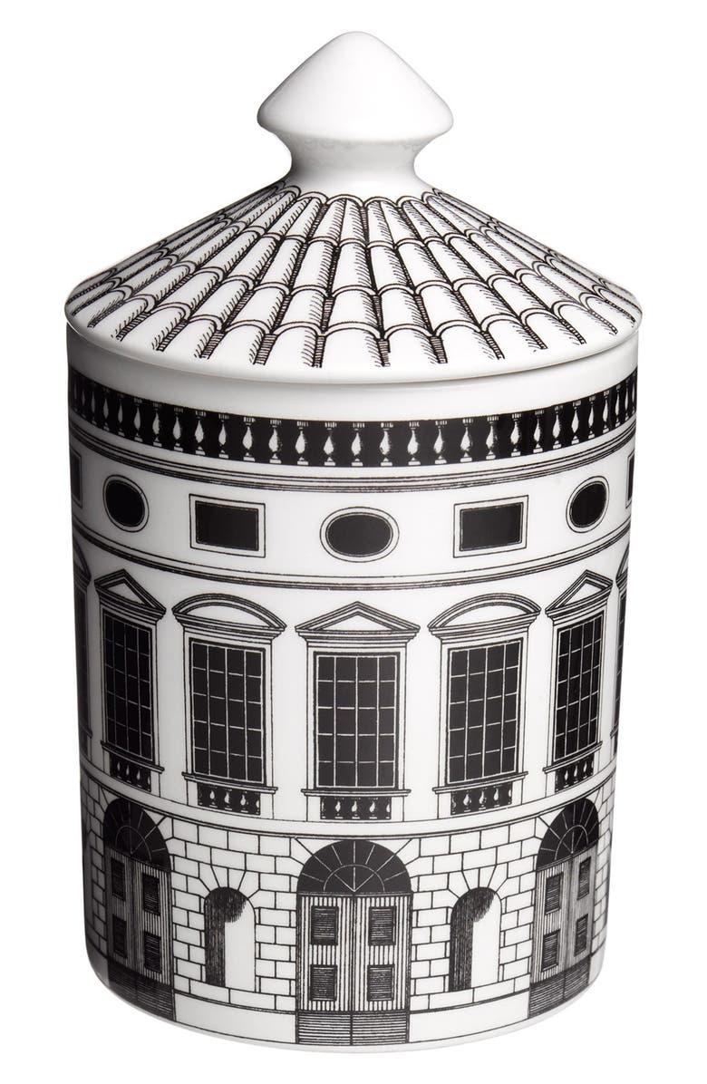 FORNASETTI 'Architettura - Otto' Lidded Candle, Main, color, 000