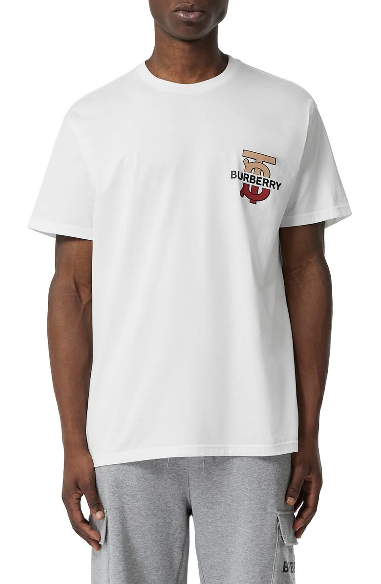 BURBERRY Gately Graphic T-Shirt, Main, color, WHITE
