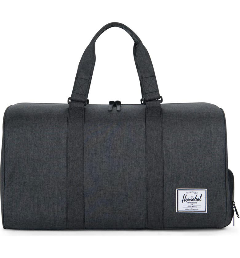 HERSCHEL SUPPLY CO. Novel Duffle Bag, Main, color, BLACK CROSSHATCH