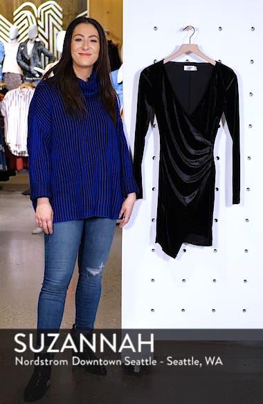Estelle Velvet Faux Wrap Dress, sales video thumbnail