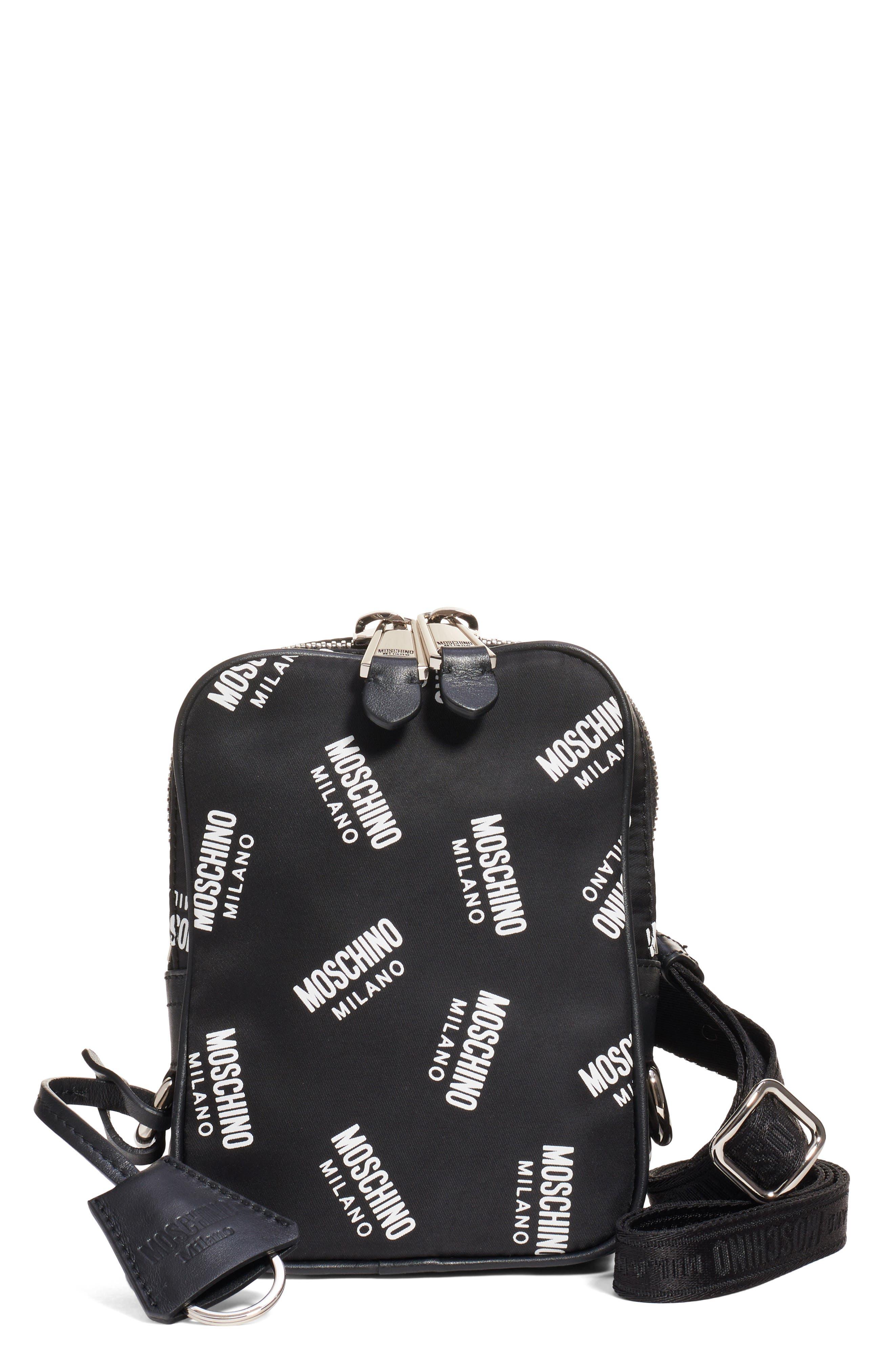 Moschino Crossbody Logo Nylon Crossbody Bag