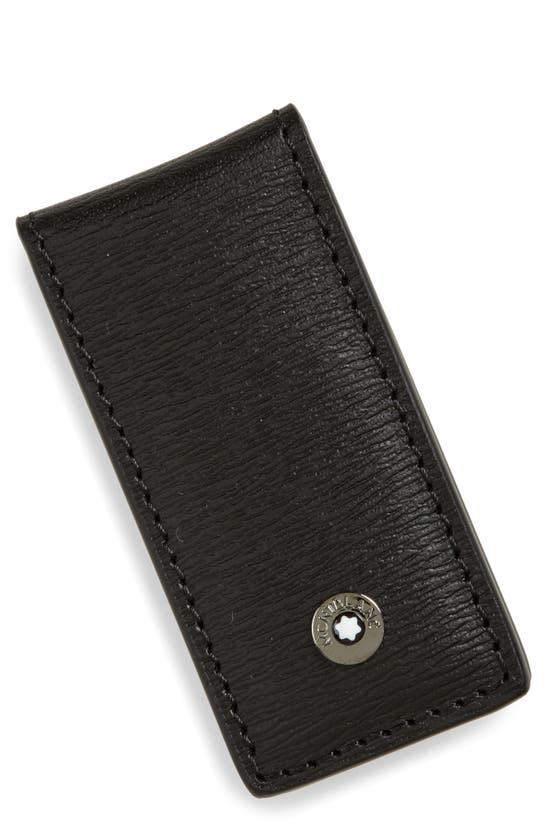 Montblanc Men's 4810 Westside Leather Money Clip In Black