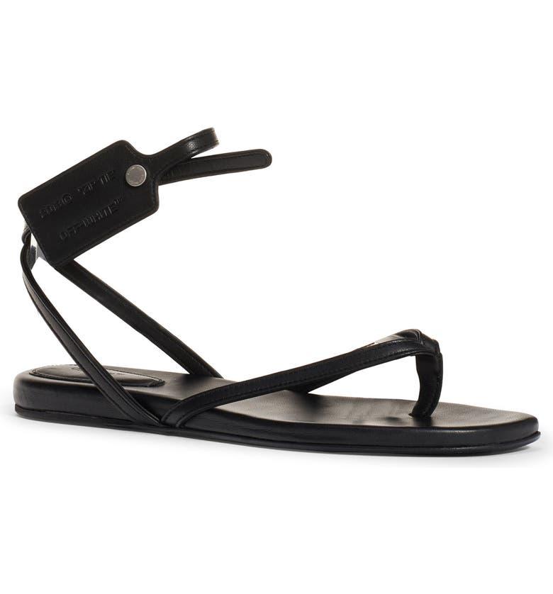 OFF-WHITE Zip Tie Sandal, Main, color, BLACK NO COLOR