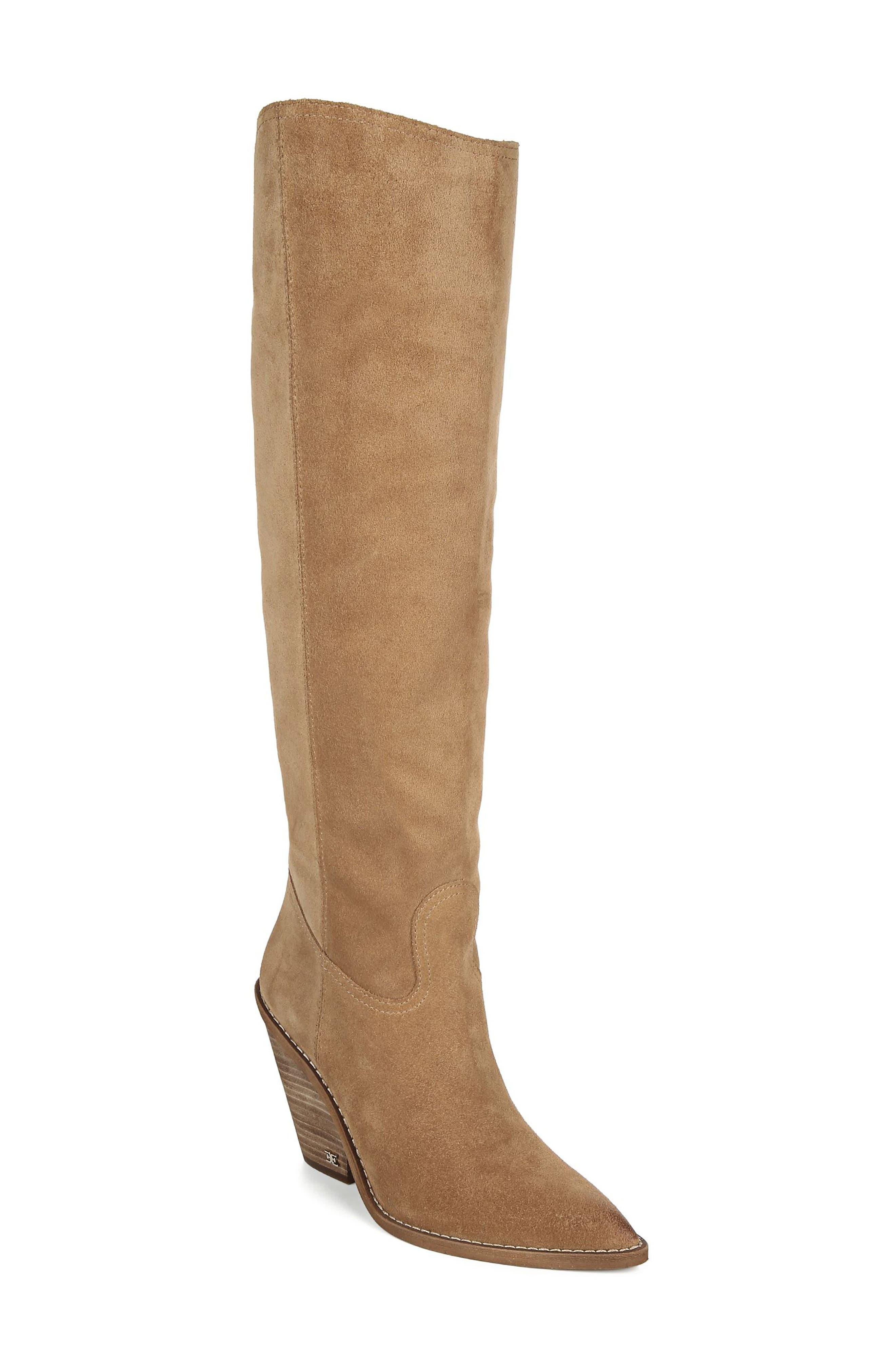 Sam Edelman Indigo Pointed Toe Knee High Boot (Women)