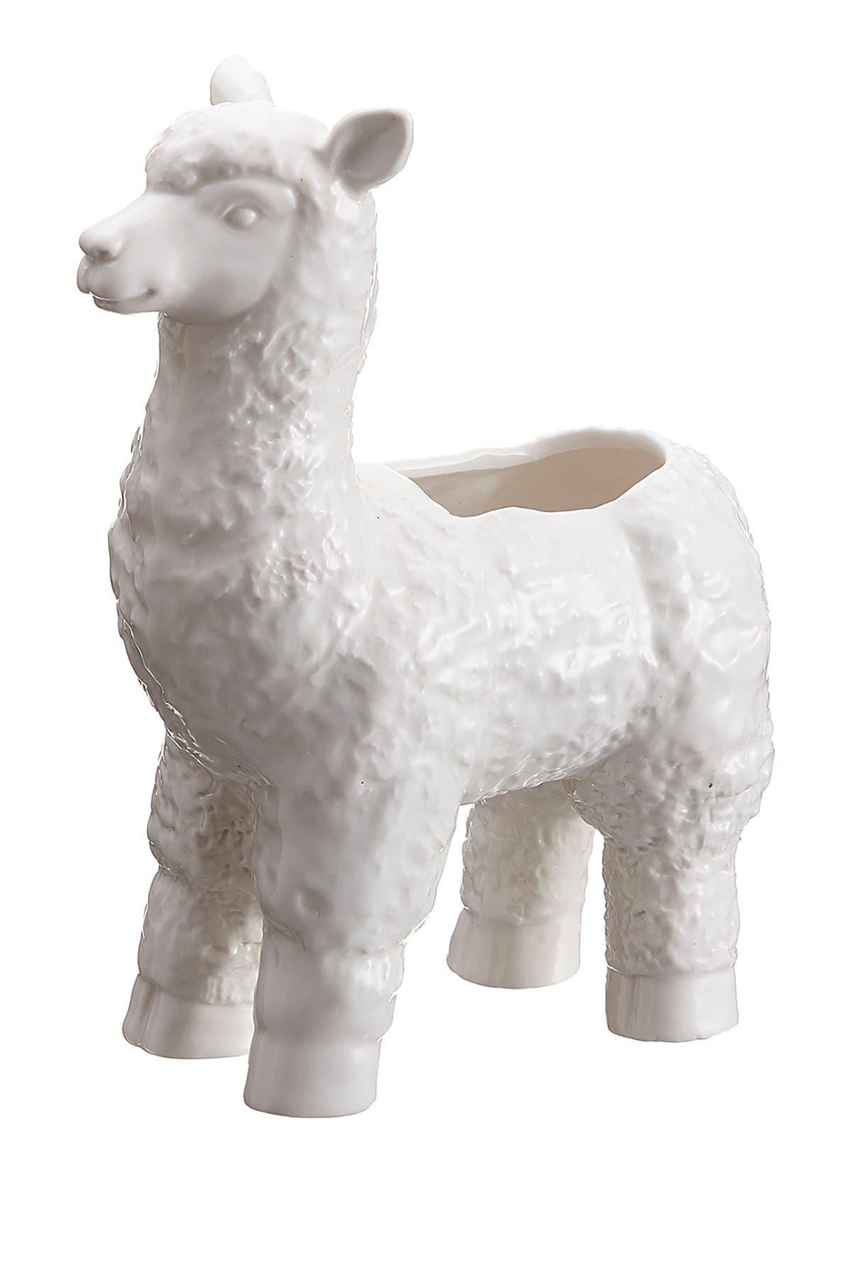 """Image of ALLSTATE 8.25"""" Llama Ceramic Planter"""