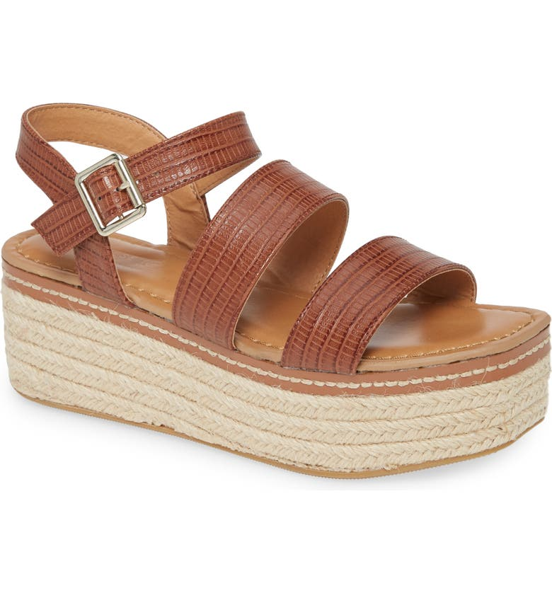 CHINESE LAUNDRY Zinger Platform Sandal, Main, color, TAN FAUX LEATHER