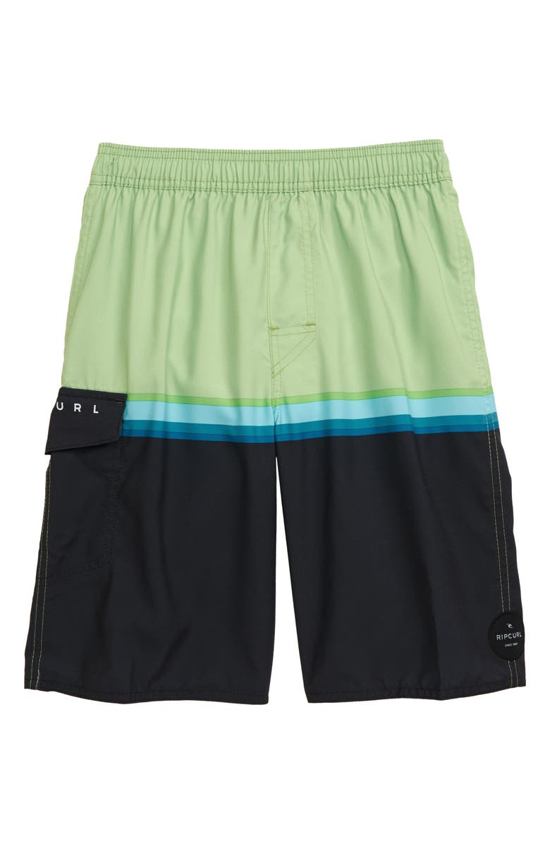 RIP CURL Highway 69 Volley Swim Trunks, Main, color, GREEN