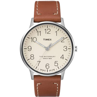 Timex Waterbury Classic Leather Strap Watch, 40Mm