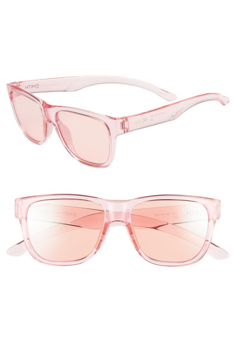 Smith Lowdown Slim 2 53mm ChromaPop Square Sunglasses
