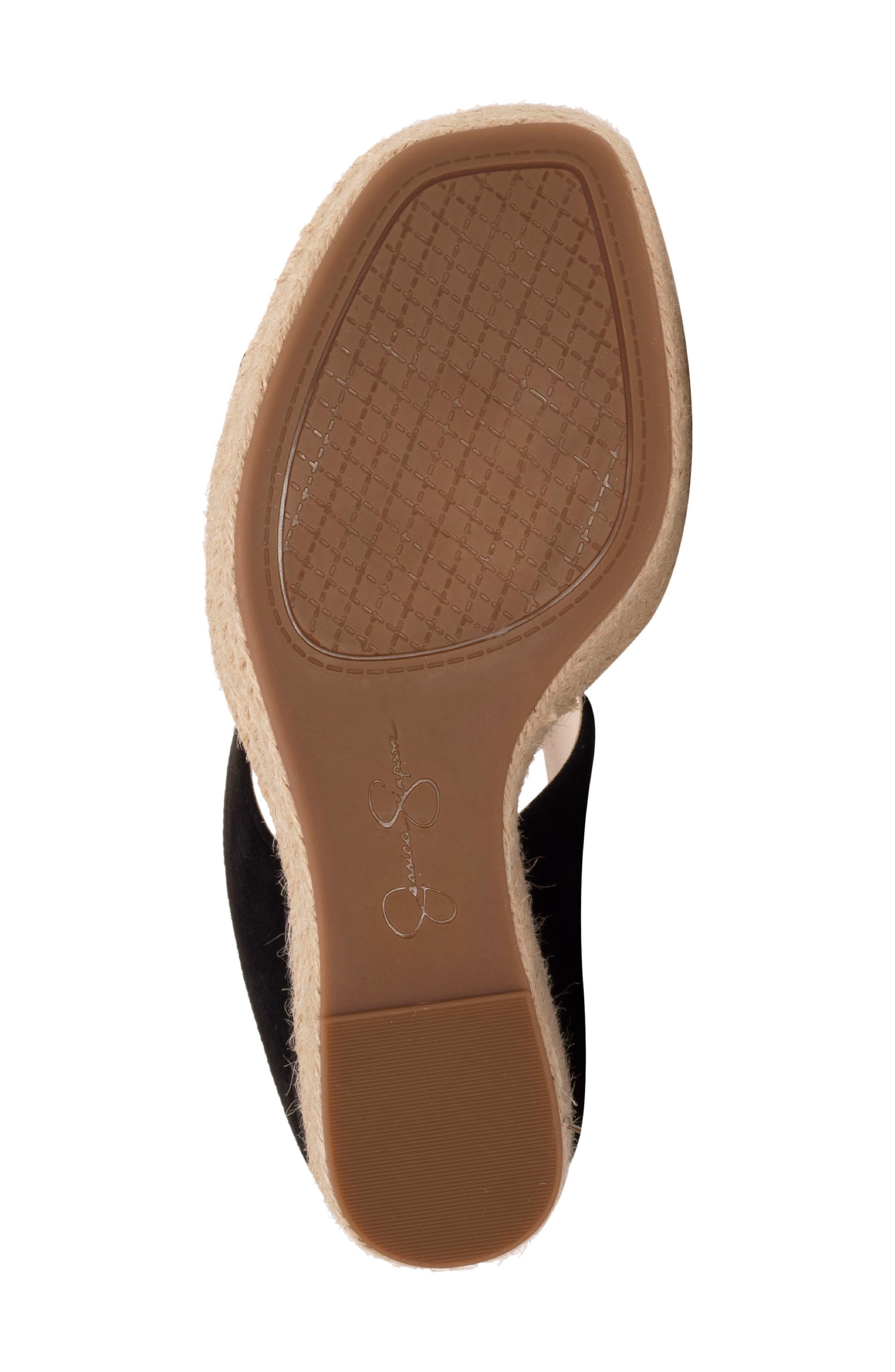 ,                             Siera Espadrille Wedge Slide Sandal,                             Alternate thumbnail 6, color,                             BLACK