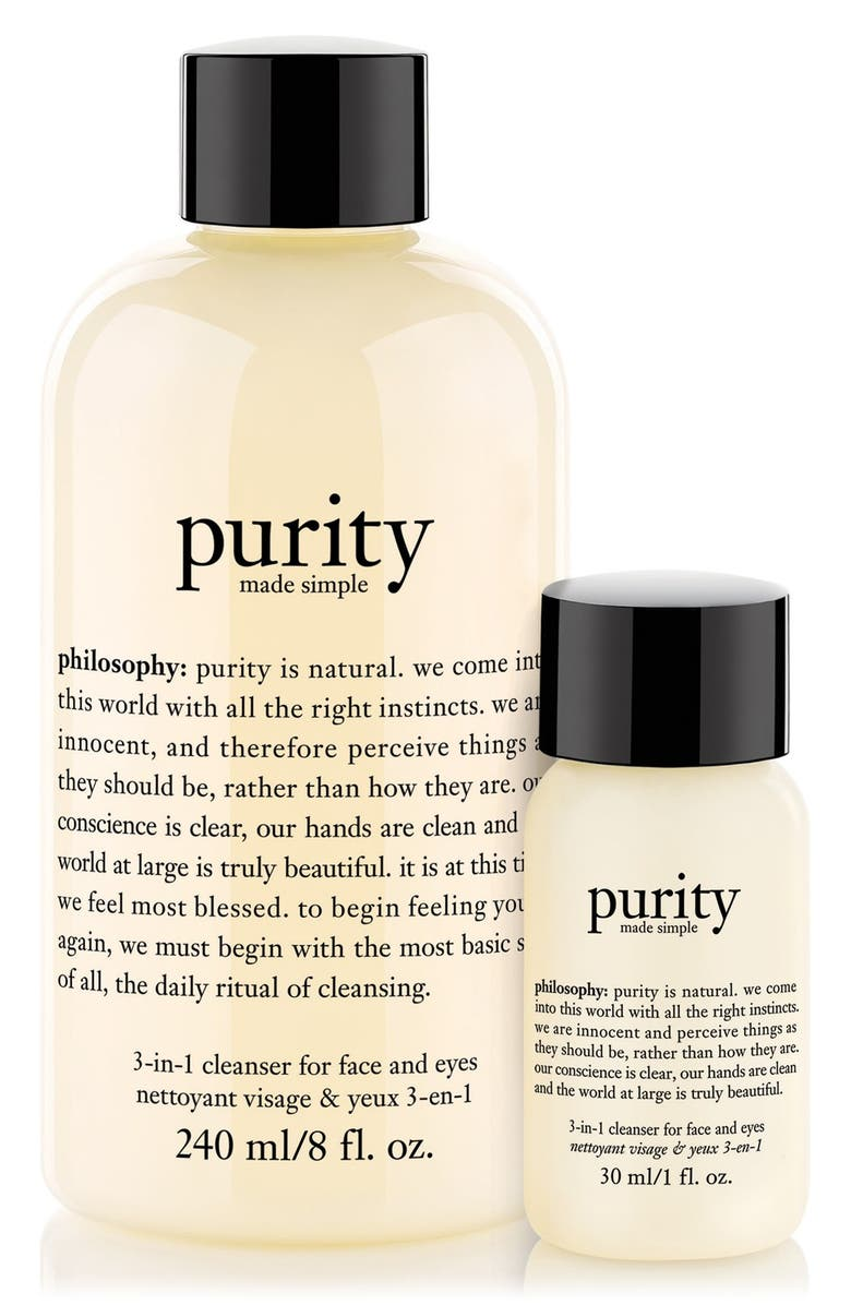 PHILOSOPHY 'purity made simple' one-step facial cleanser duo, Main, color, 000