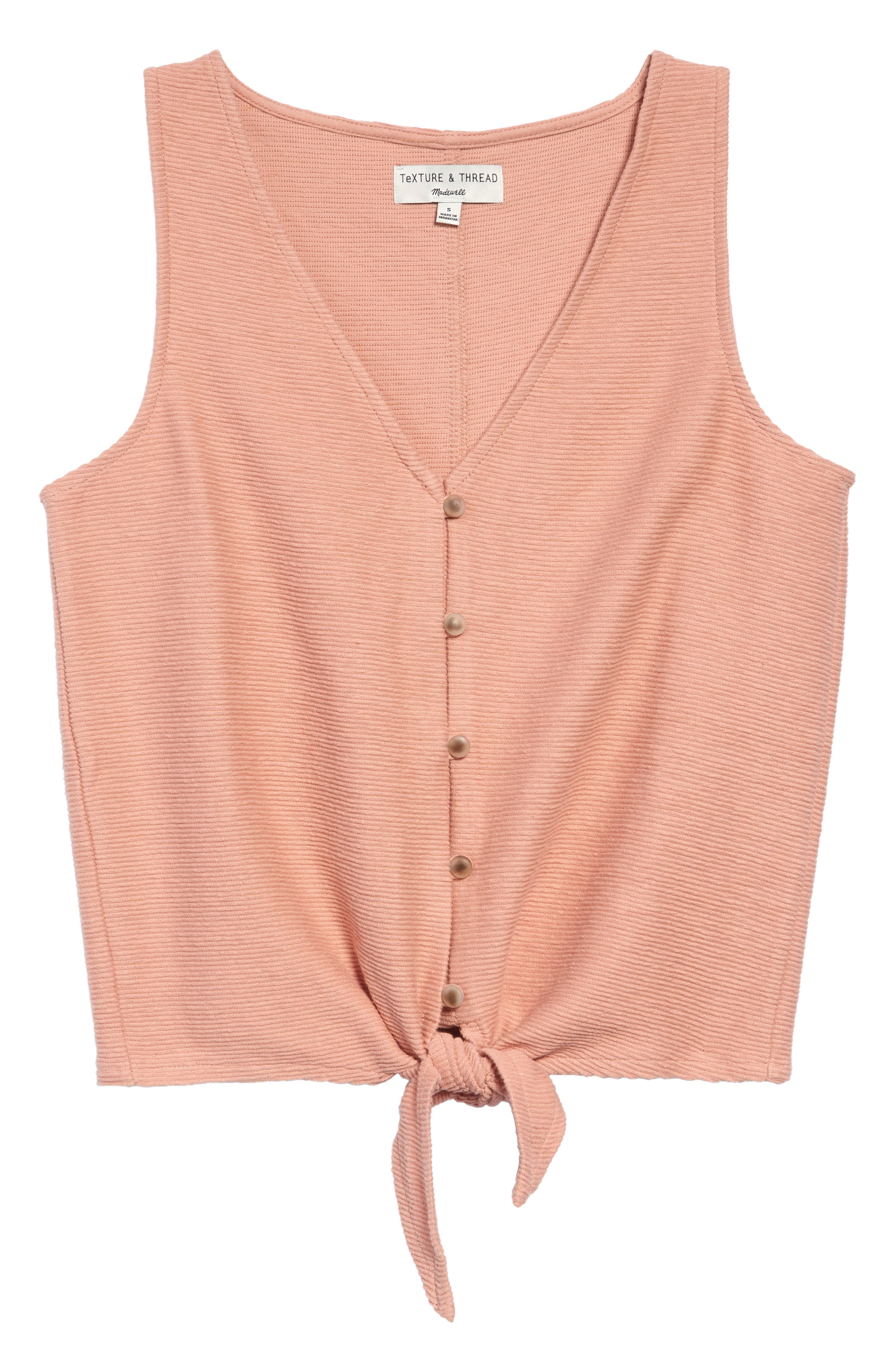 Image of Madewell Texture & Thread Button Front Tie Tank