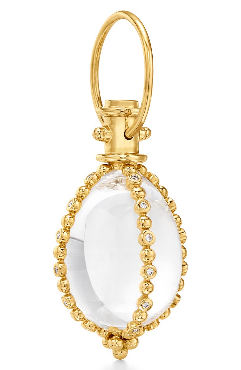 TEMPLE ST. CLAIR Sassini Pavé Diamond Amulet, Main, color, CRYSTAL/ DIAMOND