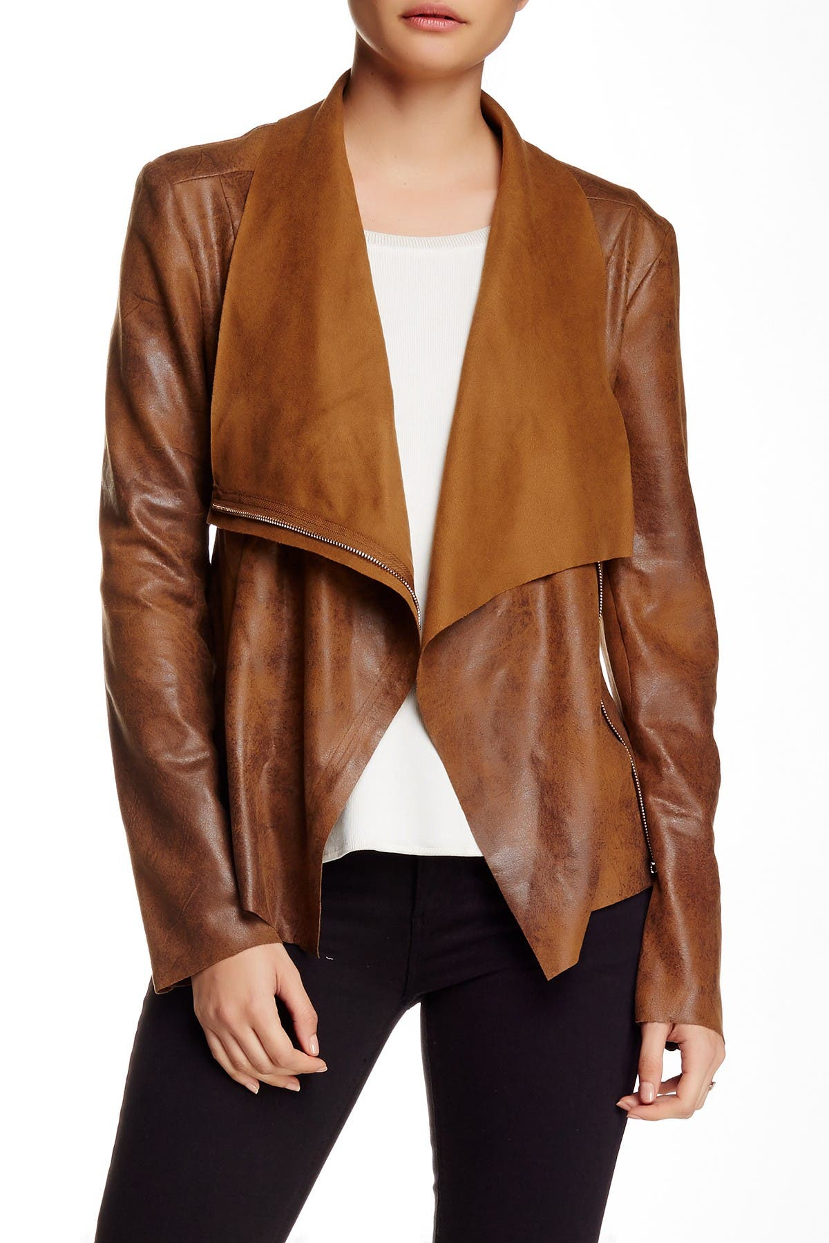 Image of BNCI by Blanc Noir Vegan Suede Drape Jacket