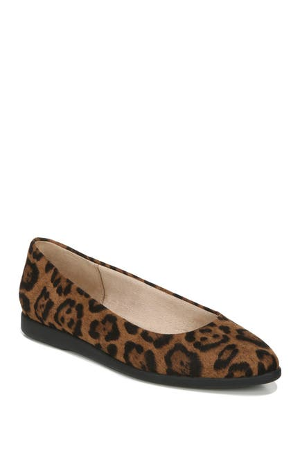 Image of LifeStride Amelia Leopard Print Pointed Toe Flat - Wide Width Available