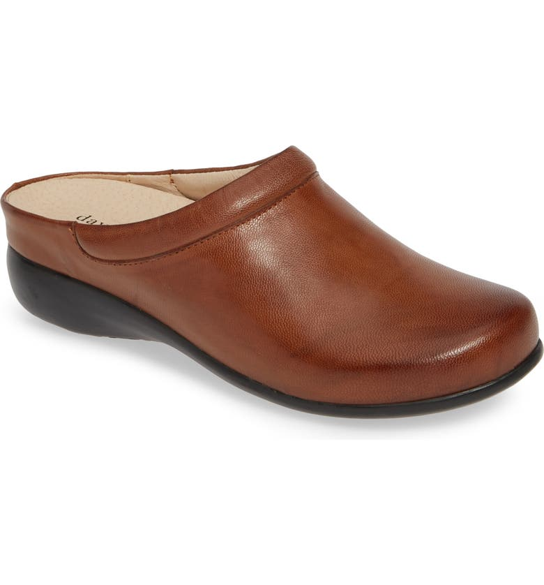 DAVID TATE Win Clog, Main, color, COGNAC BRUSHED LEATHER