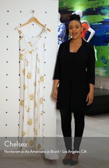 Bristol Floral Side Slit Maxi Dress, sales video thumbnail