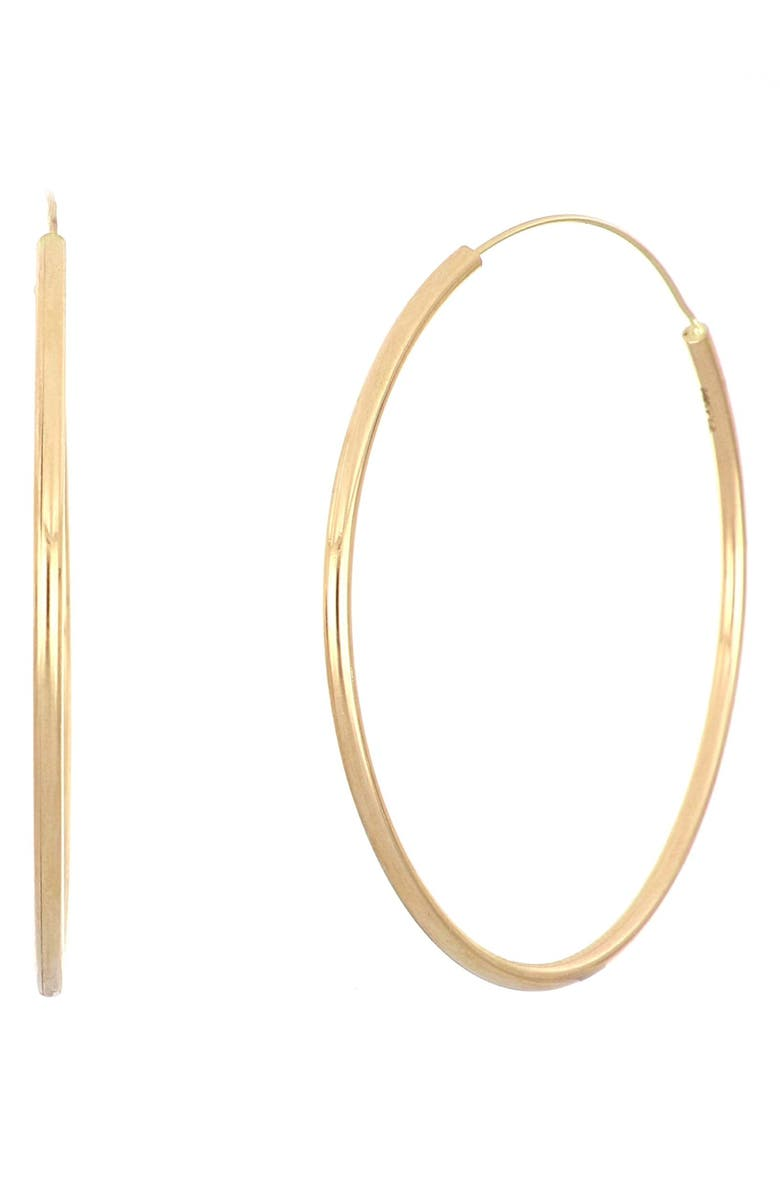 BONY LEVY Medium Hoop Earrings, Main, color, YELLOW GOLD