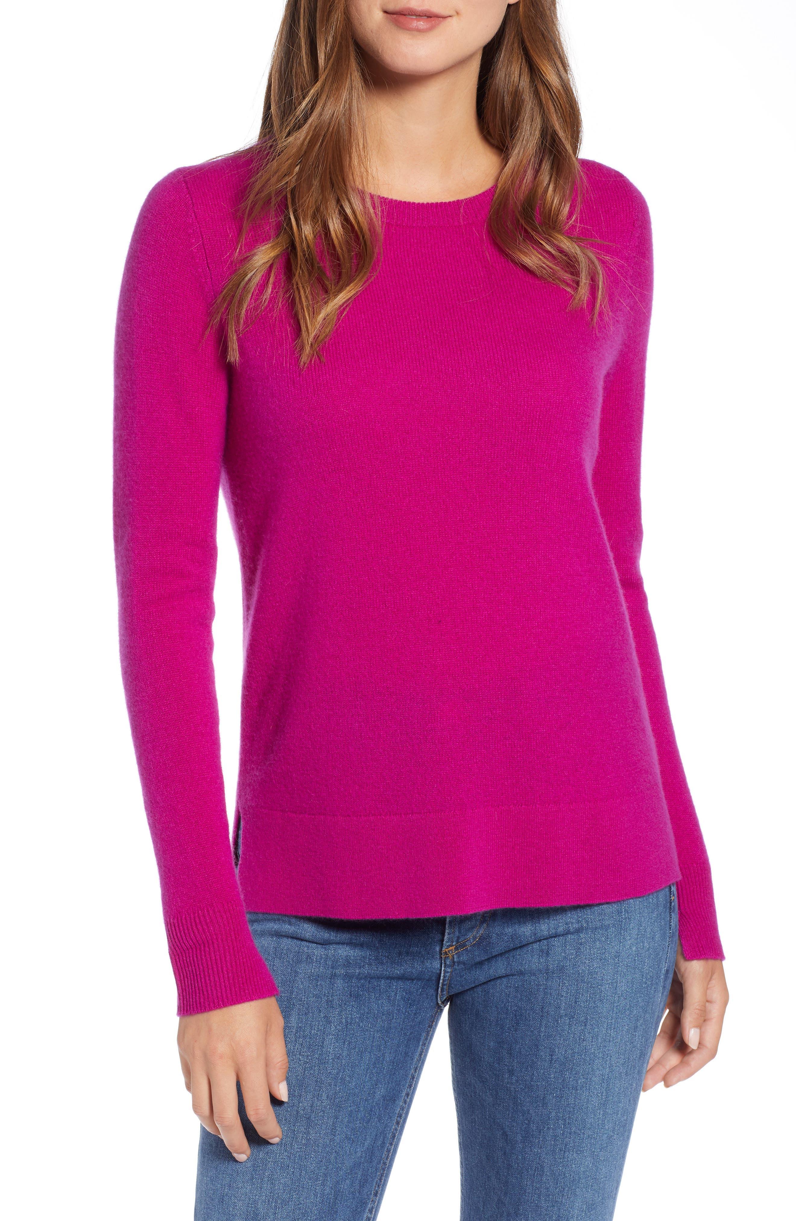 ,                             Crewneck Cashmere Sweater,                             Main thumbnail 172, color,                             652