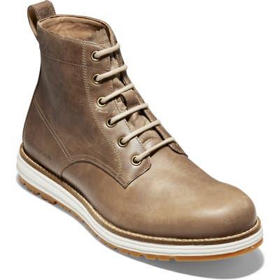 Cole Haan Original Grand Waterproof Plain Toe Boot, Beige