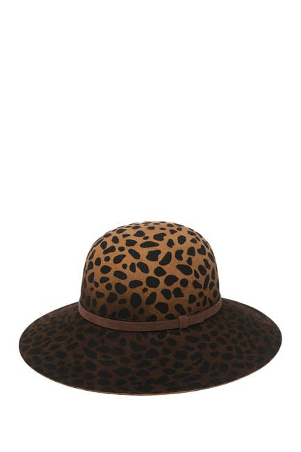 Image of PHENIX Leopard Wool Floppy Hat