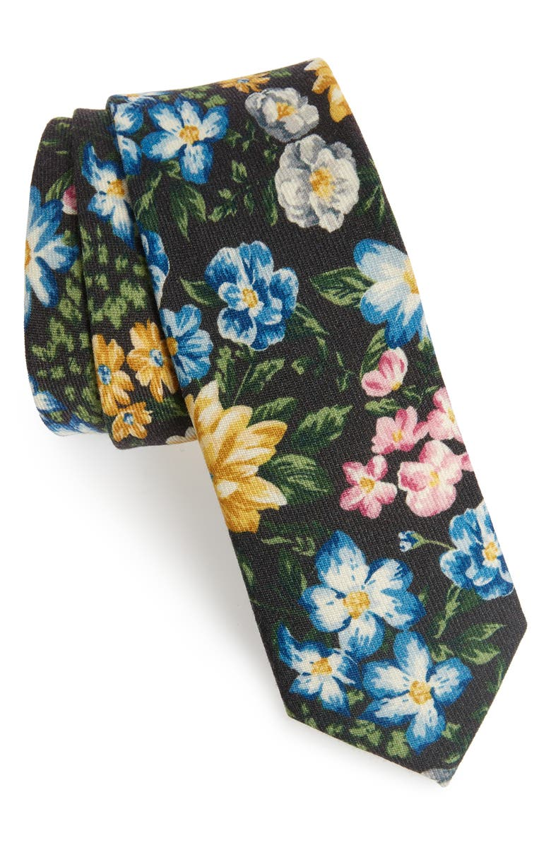 THE TIE BAR Leading Man Floral Wool Tie, Main, color, 200