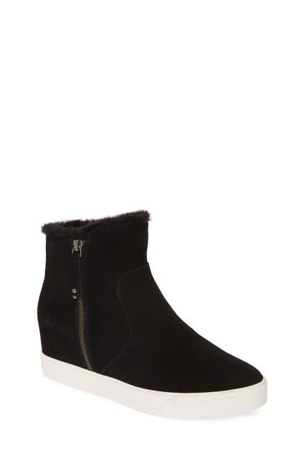 Image of Caslon Averie Faux Fur Lined Hidden Wedge Water Resistant Sneaker