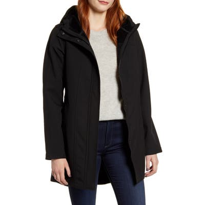 Kristen Blake Packable Softshell Hooded Jacket, Black
