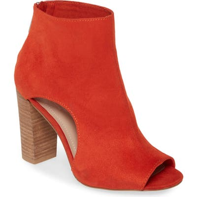 Charles By Charles David Fable Cutout Open Toe Bootie, Orange