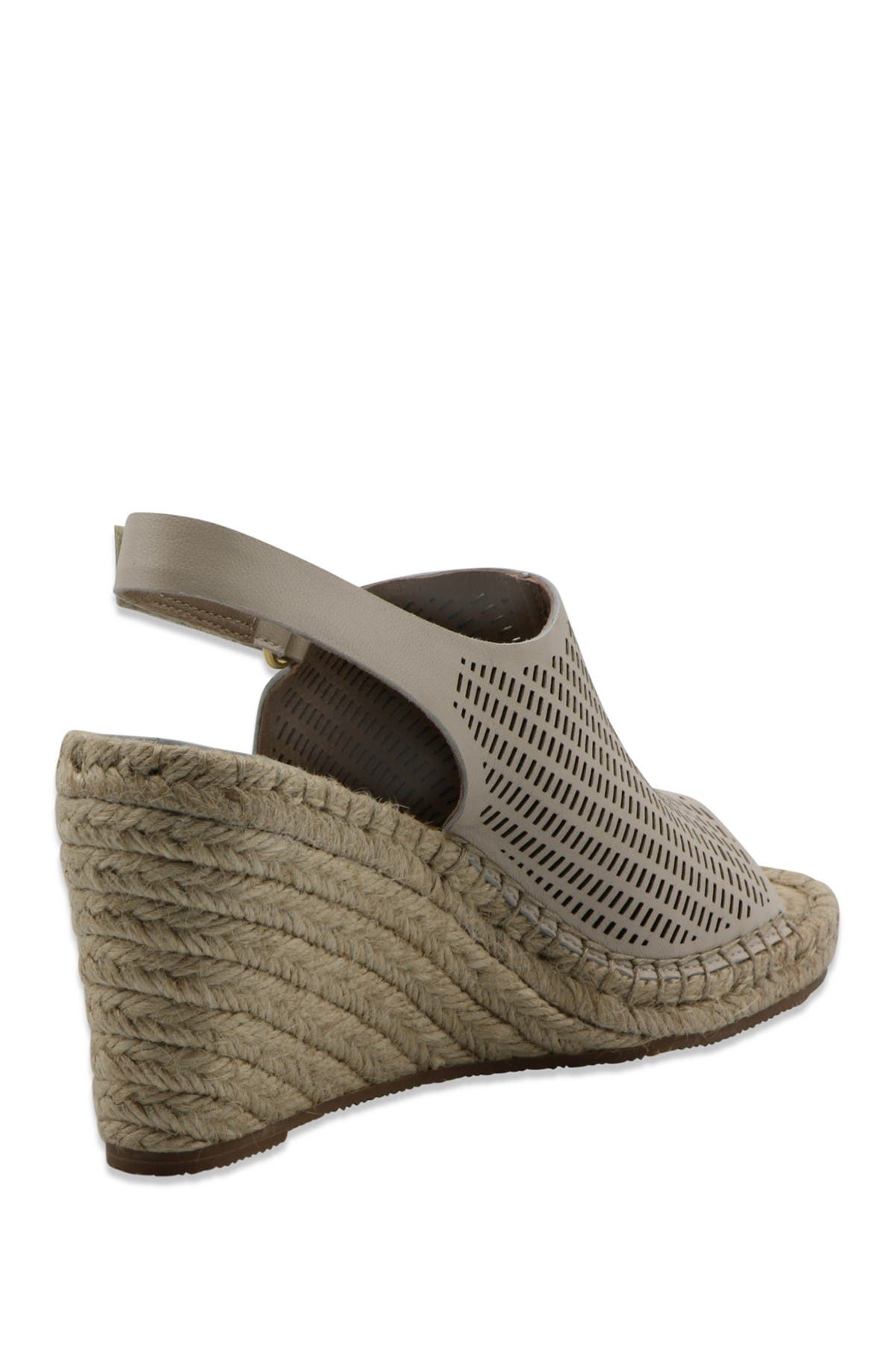 Image of Bettye Muller Vincent Leather Espadrille Wedge Sandal