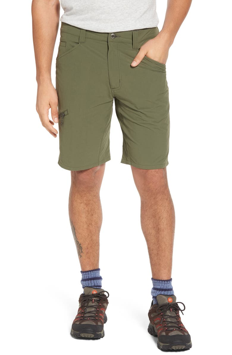 PATAGONIA Quandary Water Repellent Stretch Hiking Shorts, Main, color, INDUSTRIAL GREEN
